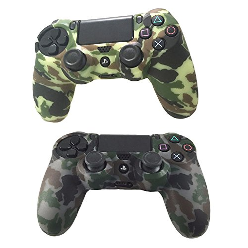 2 Pack Combo Protective Silicone PS4 Slim Pro Controller Skin, Design of Water Transfer Printing Skin Protector Cover Case for Sony PlayStation 4 Slim Pro Controller Camouflage For Sale