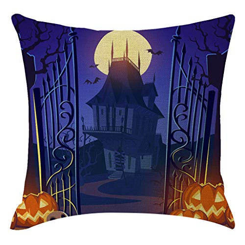 Hurrybuy Halloween Pillow Covers Pumpkin Theme Throw Pillow Case Home Decorations for Cushion Sofa Party 18×18 inch