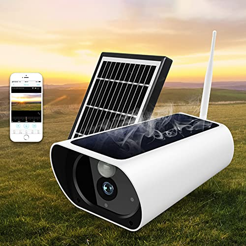 Outdoor Solar Security Camera, 1080P HD Wireless WiFi Surveillance Home Cameras Motion Detection, Night Vision, 2-Way…