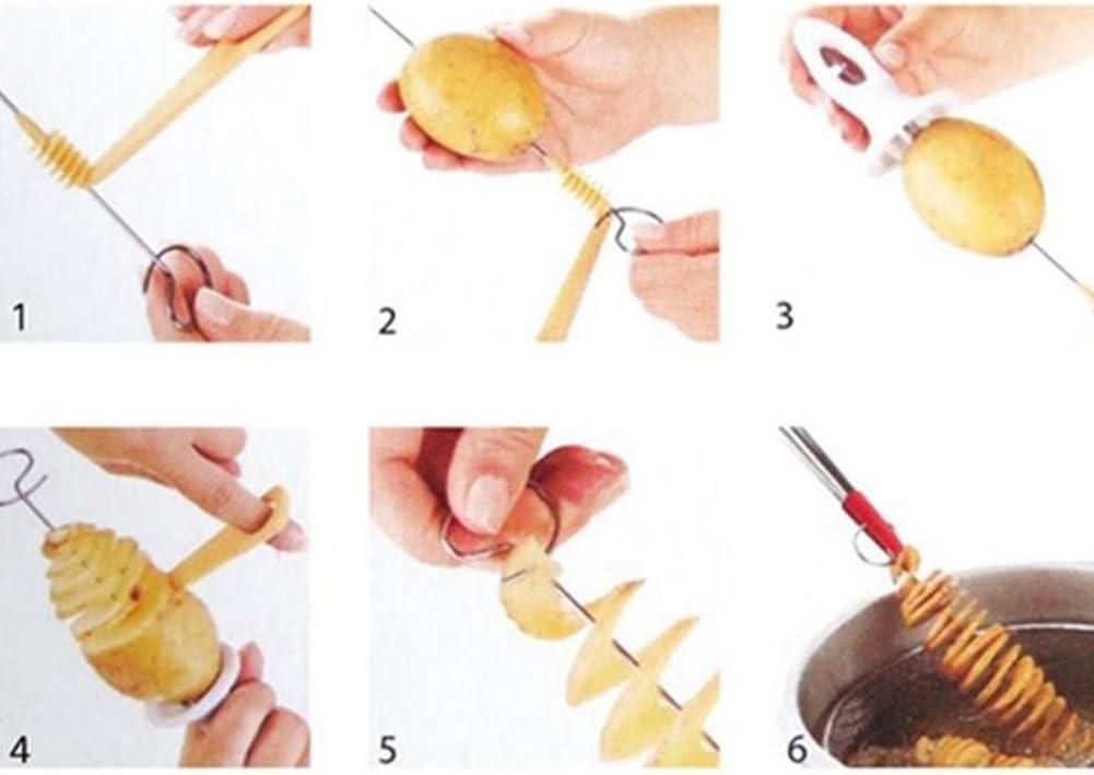 OMMO LEBEINDR Pommes De Terre En Spirale Creative Slicer Tornado Chips Gadgets Trancheuse De Pommes De Terre Coupe De Pommes De Terre