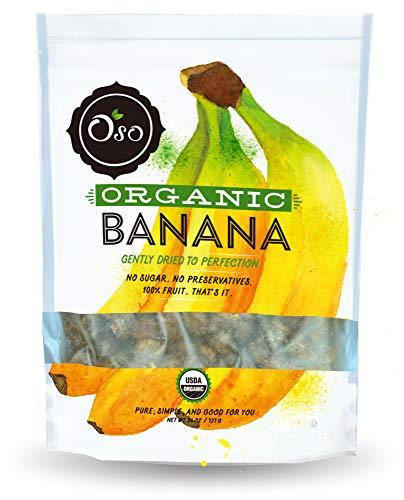 Oso Snacks - Organic Dried Banana Bites - Dark and Sweet - No Added Sugar or Preservatives - 26oz