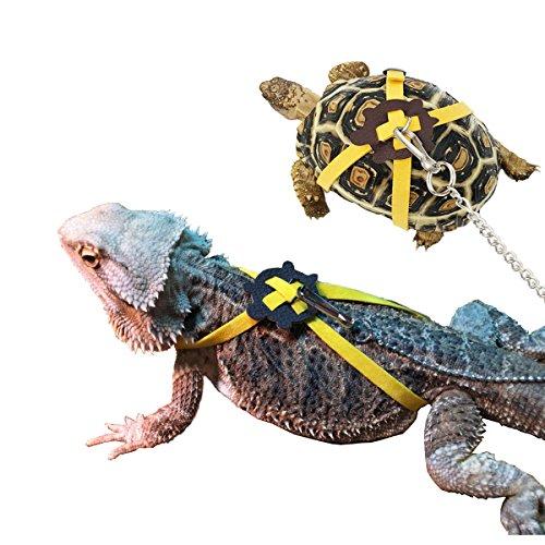Vehomy Turtle leash Lizard Leash Tortoise Harness Strap Pet Collar