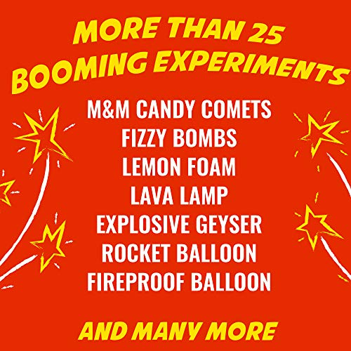 Playz Kaboom! Explosive Combustion Science Lab Kit - 25+ STEM Experiments - DIY Make Your Own Rockets, Helium Balloons, Fizzy Bombs, Color Explosions and More with Fun Chemical Reactions! by Playz (Image #1)