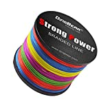 DINGBEAR 109Yd/100m 135LB/0.60mm Multicolored Super Strong Pull Generic Braided Fishing Line Kite Line Woven Network Cable Cast Super Strength Fishing Line ...
