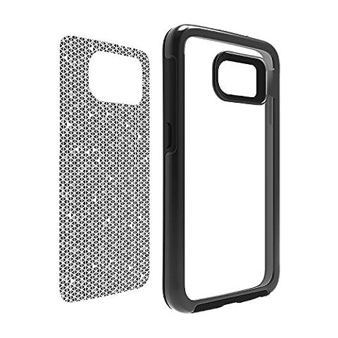 OtterBox My Symmetry Series Galaxy S6 Case - Black Crystal w/ Tri Grid Grey Graphic Insert (Otterbox Samsung Galaxy S5 Skin)