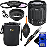 "Canon EF-S 18-55mm f/3.5-5.6 IS ""STM"" Camera Zoom Lens for Canon EOS 7D, 60D, 70D, EOS Rebel SL1, T2i, T3i, T4i, T5i Digital SLR Cameras + 10pc Bundle Deluxe Accessory Kit w/ HeroFiber® Ultra Gentle Cleaning Cloth"