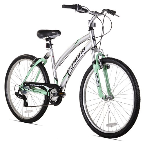 Alloy Dual Suspension - Kent Pomona Women's Dual Suspension Comfort Bike, 26-Inch