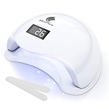 Amazon.com: MiroPure 36W UV LED Nail Lamp with 4 Timer Setting and 2 Nail Files: Beauty