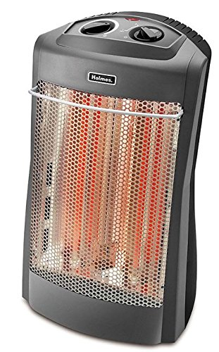 "Holmes Prismatic Quartz Tower Heater w/Two Heat Settings, Black, 14""w x 9 3/4""d x 24""h Ceramic Heaters uNIVER"