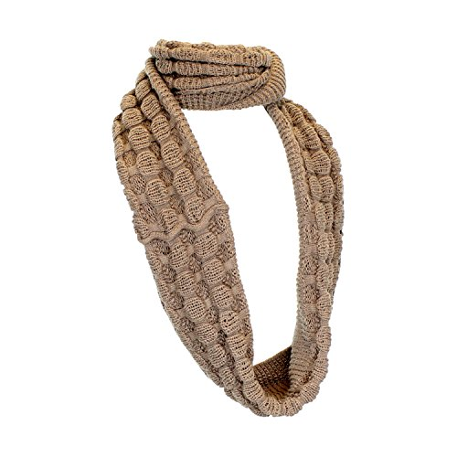 Camel Cute Bubble Knit Winter Infinity Scarf, Ribbed Eternity Loop Neck Warmer (Pretty Girl Outfits)