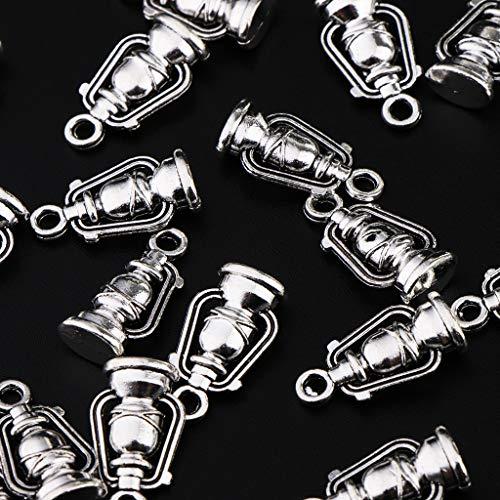 20 Charme Bricolage Inoxydable Motif B Pièce Fantasie Pendentif Lanterne Acier Baosity Ornement Bijoux BxqRUq5Hgw