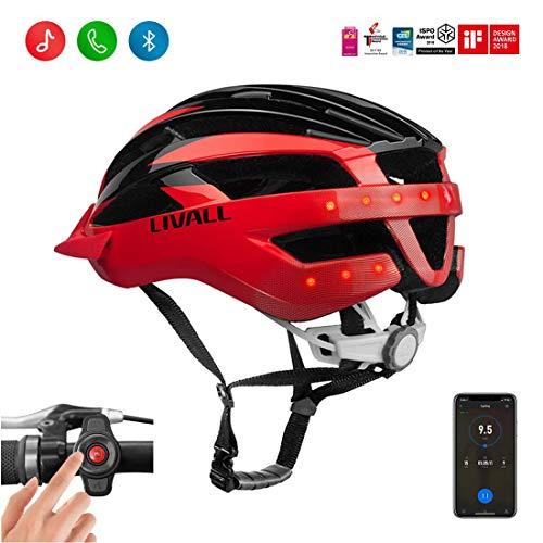LIVALL MT1 Smart Bike Helmet,Cycling Mountain Bluetooth Helmet,Bluetooth Speakers,Wireless Turn Signals Tail Lights,SOS Alert,walkie-Talkie,CPSC and CE Certified Lightweight Cycling Helmet