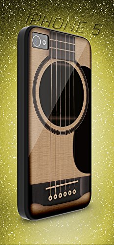 (SPOCASES made to order { GUITAR and Music iPhone case } GUITAR and Music Gift Case iPhone - Package include 1 Black Hard Shell Case for Apple iPhone 5 A513)