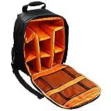 AOER Waterproof Shockproof DSLR Camera Backpack Bag Case for Canon Nikon Sony Olympus Samsung Panasonic Pentax Cameras (Orange)