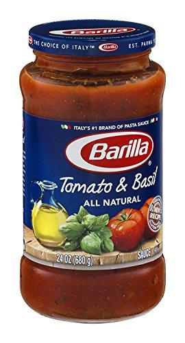Sauce Spaghetti Barilla - Barilla Tomato & Basil All Natural Pasta Sauce 24 oz (Pack of 12)