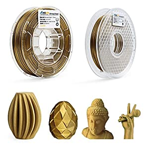 AMOLEN 3D Printer Filament,Frosted Bronze 1.75mm PLA Filament for 3D Printing +/- 0.03 mm by AMOLEN