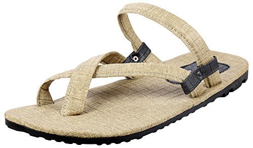 Tripssy Mens White Leather Sandals - 10 UK