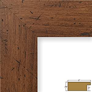 Craig Frames 74004 24 by 36-Inch Picture Frame, Smooth Wrap Finish, 2-Inch Wide, Dark Brown Rustic Pine