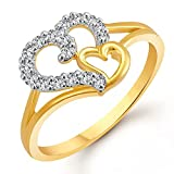 Meenaz Fashion Jewellery Rings For Girls Couples Women Gold Plated Wedding Fancy Party wear American Diamond Love Valentine Gifts Girlfriend Ring Jewellery Set For Womens -Finger ring -401(10)