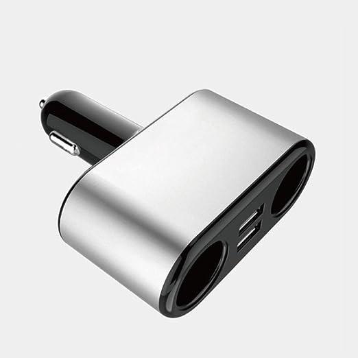 zhhbeaty Cargador de coche 2 en 1 2 sockets adaptador de ...