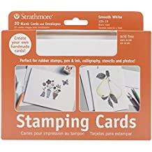 Strathmore 105-19 Full Size Stamping Cards, Smooth, 20 Cards & Envelopes