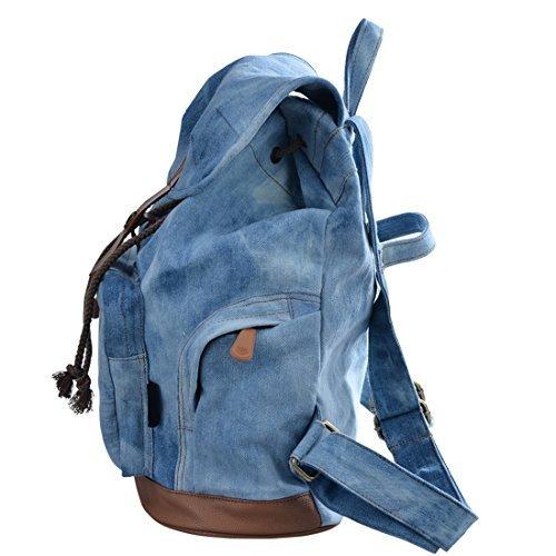 College Girl's Casual Backpack Daypack Teen Girl Cute Bag Blue E00117BE