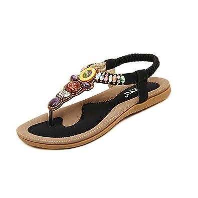 Women's Bohemian Gemstone Thong Sandal