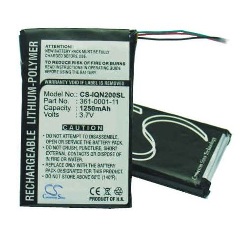 1250mAh Li-Polymer Replacement Battery for Garmin Nuvi 200, Nuvi 200w, Nuvi 2.