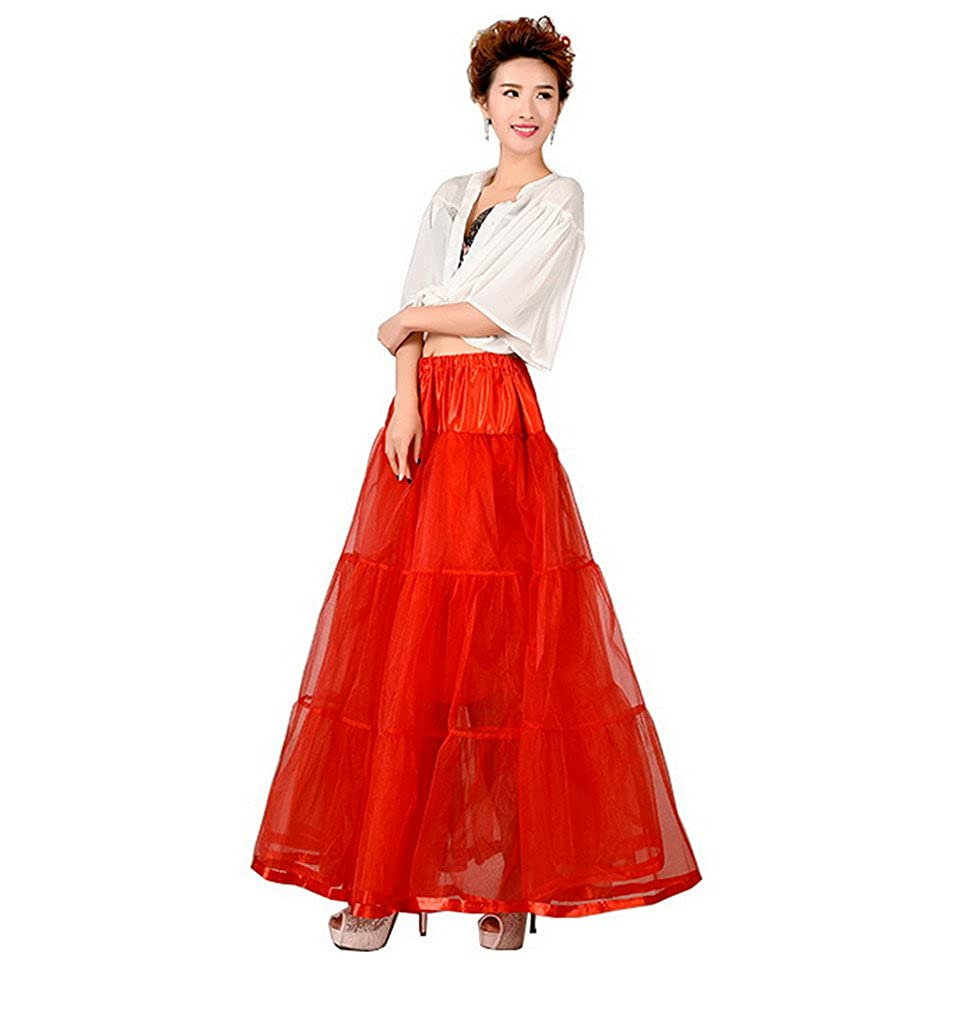 Women's 50s Vintage Tutu Underskirt Petticoat Wedding Rockabilly Fancy Dress Evedaily