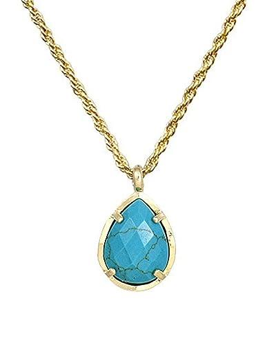 686f2a98c97c9e Amazon.com: Kendra Scott Signature Kiri Teardrop Pendant Necklace in  Turquoise: Jewelry