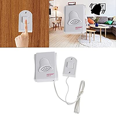 Kangnice Battery Operated Electronic DING DONG Ring Chime Doorbell Mounted Wired Vocal