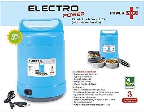 calentador de alimentos comida bento port/átil 220/V t/érmico recipiente con tapa para alimentos King internacional 3/Tier calentador el/éctrico caja de almuerzo |100/% ecol/ógica sin BPA /& reutilizable fiambrera para ni