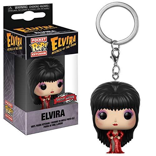 Funko Pocket Pop! Elvira Red Dress Keychain Keyring ()