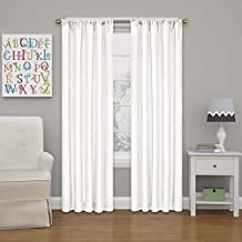 """Eclipse Kendall Blackout Curtain, 63"""", White"""