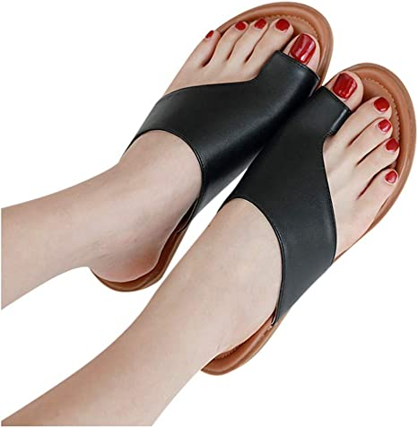 Womens Wedge Heel Slippers Clip Toe Flip Flops Platform Summer Sandals Shoes A04