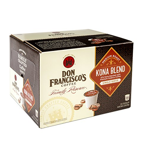 Don Francisco's Kona Commingling, Premium 100% Arabica Coffee, Medium-Roast, Single-Serve Pods for Keurig, 100-Count, Family At one's fingertips