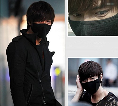 [Lee Minho City hunter mouth mask accessories with keychain strap charm pendant] (Drama Mask Costume)