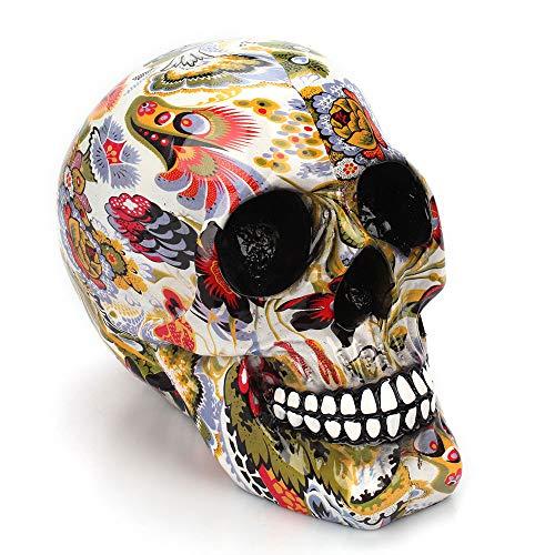 SaveStore Horror Skull Decoration Resin Human Skeleton Skull