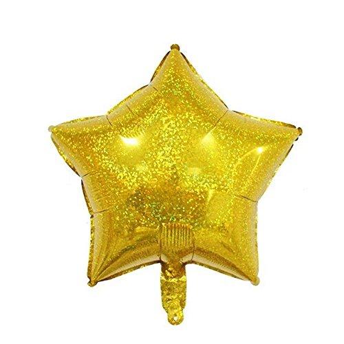 Star Shape Foil Balloon - Laser Star Balloons Star Shape Foil Mylar Balloons (Gold)
