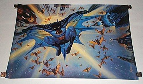 Vintage Original DC Comics 1989 Batman Dark Knight Poster featuring art by Steve -