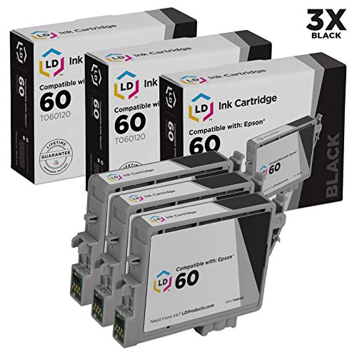 LD Remanufactured Ink Cartridge Replacement for Epson 60 T060120 (Black, -