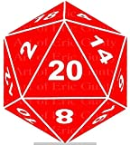 1/2 Sheet - Red D20 Dice Gaming Birthday - D24126 - Edible Cake/Cupcake Party Topper