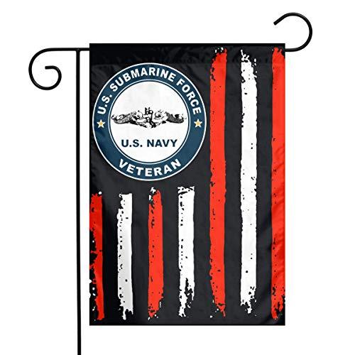 HU7 JDOS7 American Flag Us Navy Submarine Logos Garden Flag House Banner for Party Yard Home Outdoor Decor