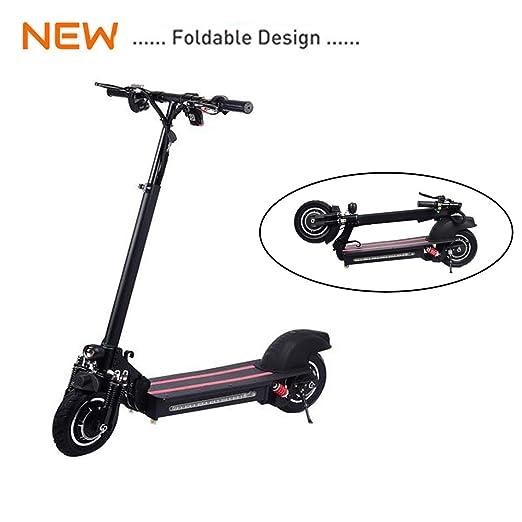 Gaeruite Scooter eléctrico, 10 pulgadas Scooter eléctrico plegable con tracción en dos ruedas para adultos, batería 48V / 22AH, velocidad máxima 35-45 ...