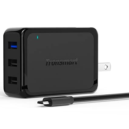Tronsmart 42W 3-Port USB Wall Charger with Quick Charge 2.0 Technology for Galaxy Note 7,S7/S7 Edge, S6/S6 Edge, LG G4, Nexus 6 and More