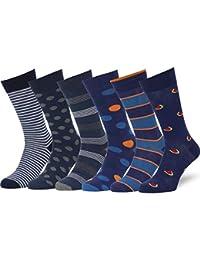 0af64eb8ff49 Mens 6 Pack Colorful Patterned Dress Socks, European Made