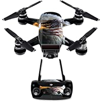 Skin for DJI Spark Mini Drone Combo - Eagle Eye| MightySkins Protective, Durable, and Unique Vinyl Decal wrap cover | Easy To Apply, Remove, and Change Styles | Made in the USA