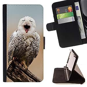 - Bird in the Tree - - Caso de la cubierta de la piel cierre magn????tico Cartera de cuero del tir????n FOR Samsung Galaxy S6 Gaga Case