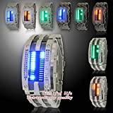 Fashion 28 Super Light LED Wrist Watch with Blue Red Green White LED Light
