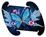 Blue Morpho Butterfly Pattern Medium Infinity